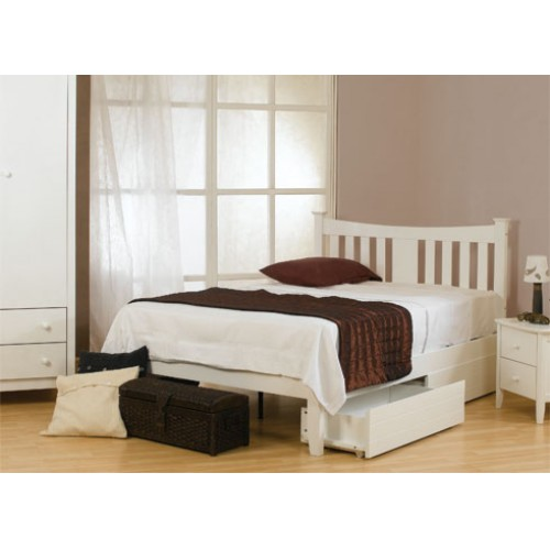 100% authentic 4db72 b28be 4ft Arkley White Wooden Bed Frame